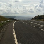 Loch Ryan approaches (photo taken shortly before near-death experience with Smyth transport lorry)